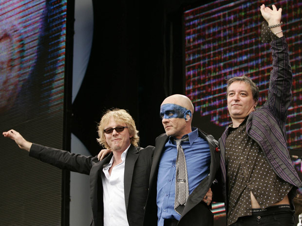 Os integrantes do R.E.M. (Foto: AP)