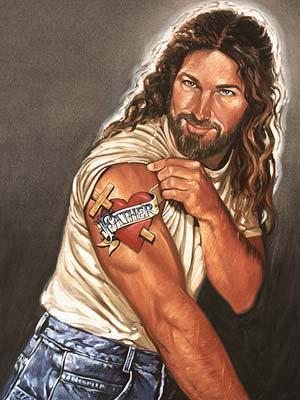 Artista cria 'Jesus sarado' para aproximar jovens da religião (Foto: Stephen Sawyer / Art4God )