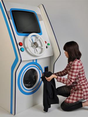 Um novo console? Estudante cria máquina de lavar roupas que funciona como videogame! Maquina_de_lavar