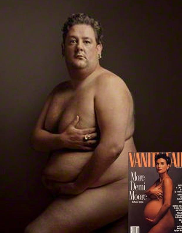 Galeria exibe retrato do comediante Johnny Vegas à la de Demi Moore. (Foto: Reprodução/npg.org.uk)