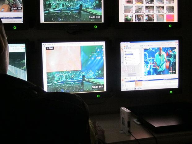 monitoramento rock in rio (Foto: Tahiane Stochero/G1)