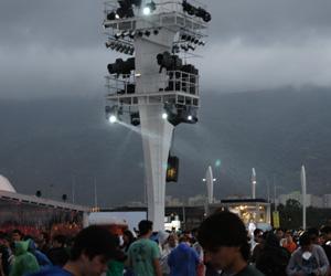 Chuva forte atinge a Cidade do Rock; acompanhe em tempo real (Glauco Araújo/G1)