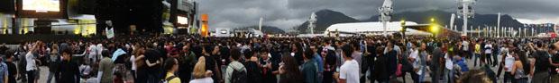 Às 16h30, fãs esperam shows do segundo dia de Rock in Rio, que inclui Red Hot Chili Peppers (Foto: Glauco Araújo/G1)
