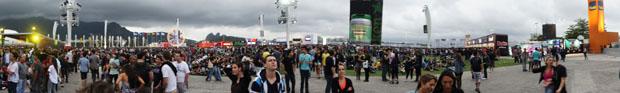 Cidade do Rock recebe grande público neste sábado (24), segundo dia do Rock in Rio 2011 (Foto: Glauco Araújo/G1)