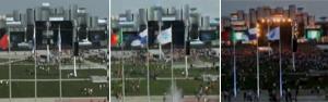 Vídeo em 'time lapse' mostra chegada para show (G1)