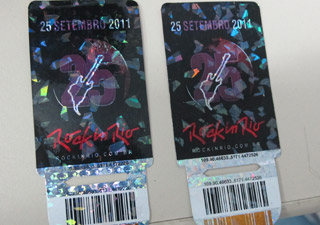 ingresso falso rock in rio (Foto: Tahiane Stochero/G1)