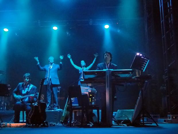 Orquestra e banda acompanharam o rei (Foto: Fernanda Brescia/G1)