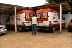 Ambulâncias novas estão paradas na Paraíba (Foto: Reprodução/TV Globo)