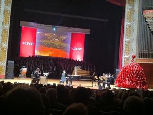 Evento teve apresentação de música clássica e balé (Foto: Carol Skandarian/G1)