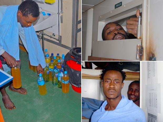 Nigerianos estão a bordo desde o dia 4 de setembro. (Foto: Dálio Zippin/Comissão de Direitos Humanos da OAB)