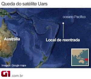 Mapa Reentrada Uars (Foto: Arte/G1)