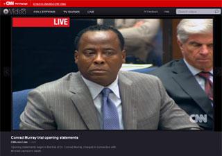 O médico Conrad Murray é julgado em tribunal de Los Angeles por acusação de matar Michael Jackson (Foto: Reprodução/CNN)