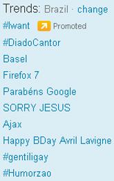 Trending Topics no Brasil às 17h21 (Foto: Reprodução)