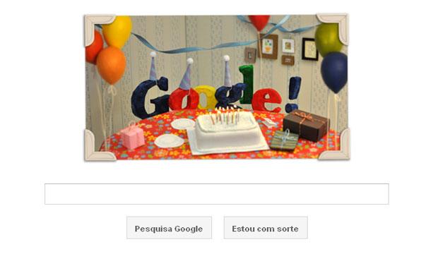 Google muda logotipo nesta terça-feira (27) para comemorar o aniversário de 13 anos da companhia (Foto: Reprodução)