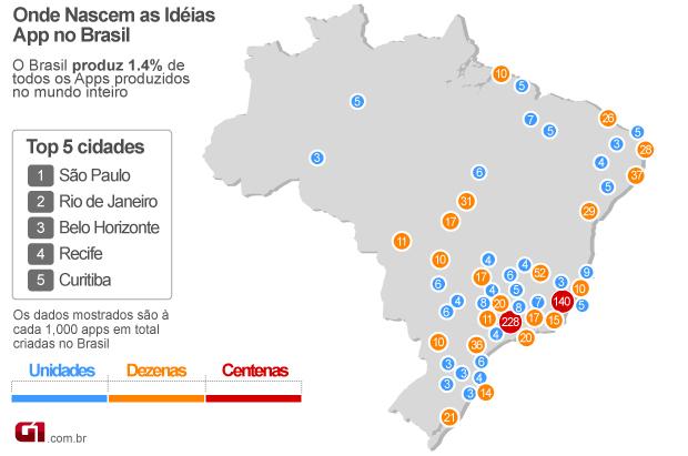 Aplicativos produzidos no Brasil com a plataforma da AppsGeyser (Foto: Divulgação)