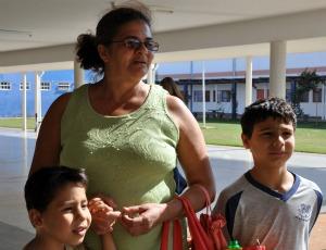 Avó conta que ficou desesperada com incidente em escola (Foto: Tatiane Queiroz/G1 MS)