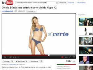 Propaganda da marca de lingeries Hope, com Gisele Bündchen (Foto: Reprodução)