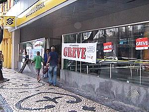 Greve nos bancos na Bahia (Foto: Reprodução/TV Bahia)