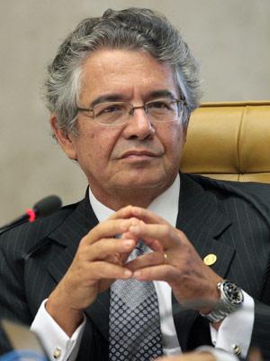 Ministro Marco Aurélio Mello durante sessão do Supremo desta quarta (Foto: Nelson Jr. / Imprensa STF)