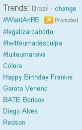 Trending Topics no Brasil às 17h28 (Foto: Reprodução)