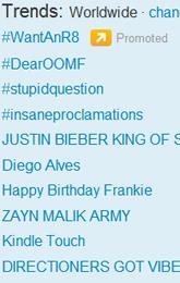 Trending Topics no Mundo, 17h26 (Foto: Reprodução)