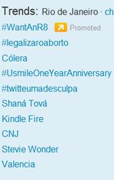 Trending Topics no Rio às 17h41 (Foto: Reprodução)