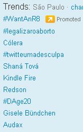Trending Topics em SP às 17h53 (Foto: Reprodução)