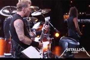 Cena do vídeo oficial do Metallica no Rock in Rio (Foto: Reprodução)