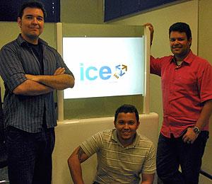 Allan Diegues, Simon Medeiros e Rafael Amaro, sócios da ICE interactive. (Foto: Divulgação)
