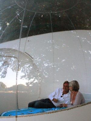 'Quarto bolha' em hotel francês (Foto: Divulgação)