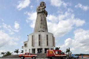 Estatua de Frei Damião, em Guarabira (Foto: Walter Rafael/Divulgação Secom-PB)