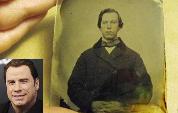 Bendedor quer US$ 50 mil por foto que mostra homem parecido com Travolta. (Foto: Reprodução/AP)