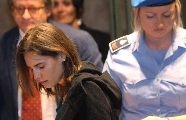 Amanda Knox chega à Corte nesta segunda (Foto: Giorgio Benvenuti/Reuters )