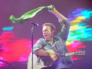 Chris Martin do Coldplay (Foto: Flavio Moraes/G1)