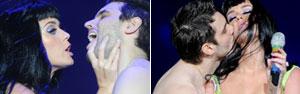 'Ela tem gosto macio', diz beijado por Katy Perry (Flavio Moraes/G1)