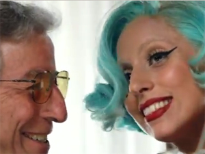 Lady Gaga e Tony Bennett (Foto: Reprodu&#231;&#227;o)