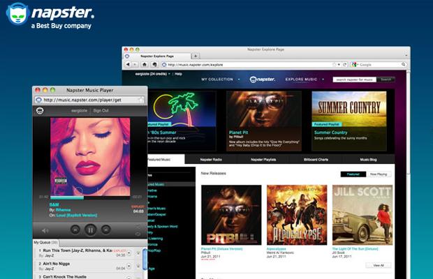Site do Napster, que foi comprado pelo Rhapsody (Foto: Reprodução)