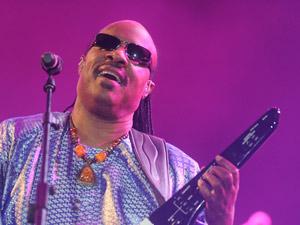 Stevie Wonder durante o show (Foto: Flavio Moraes/G1)