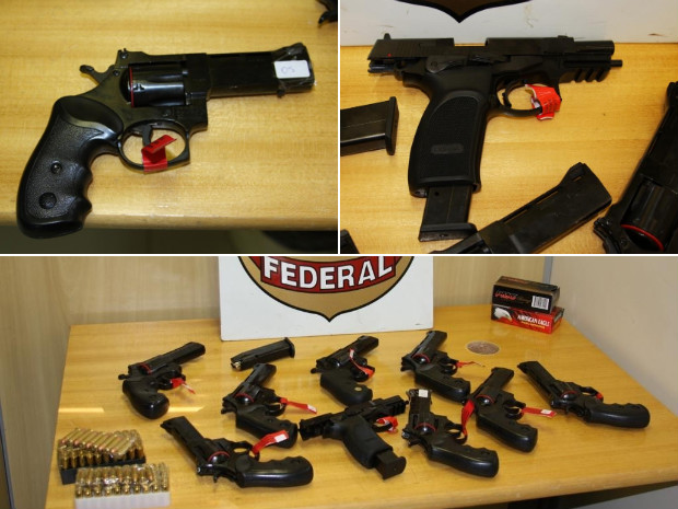 Armas foram encontradas em fiscalização de rotina de policiais federais. (Foto: Divulgação)