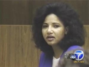 Omaima Nelson, condenada por matar, cozinhar e comer o próprio marido na década de 1990 (Foto: Reprodução/KABC TV)