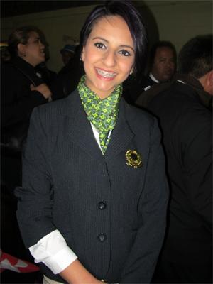 A cabeleireira gaúcha Daniela Mello, de 21 anos, é uma das delegadas brasileiras no World Skills (Foto: Vanessa Fajardo/G1)