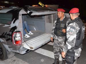 Homens são presos tentando roubar banco em João Pessoa  (Foto: Walter Paparazzo/G1)
