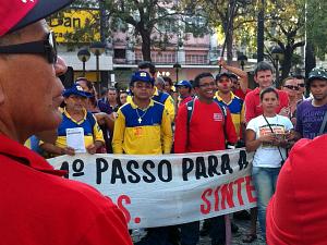 Manifestação dos funcionários dos Correios no último dia 29 de setembro na Praça do Ferreira. (Foto: Gioras Xerez/G1)