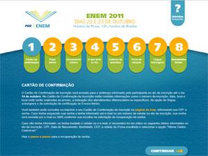 Site do Enem traz tira-dúvidas (Foto: Reprodução)