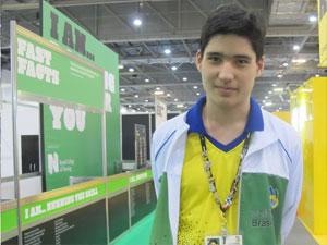 Paolo Bueno, de 21 anos, compete em tecnologia da informação (Foto: Vanessa Fajardo/G1)