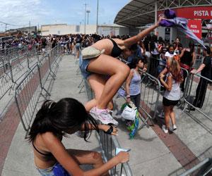 pula fila justin bieber (Foto: Alexandre Durão/G1)