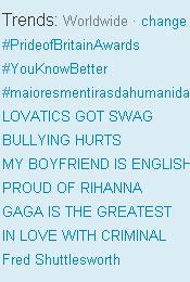 Trending Topics no Mundo, 17h21 (Foto: Reprodução)