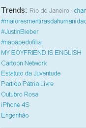 Trending Topics no Rio às 17h36 (Foto: Reprodução)