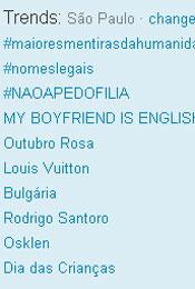 Trending Topics em SP às 17h52 (Foto: Reprodução)