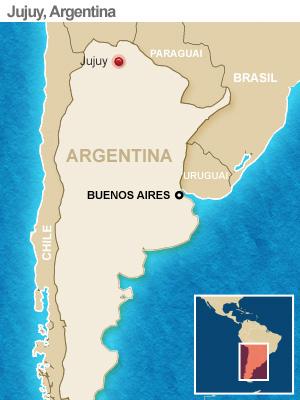 mapa terremoto argentina (Foto: AP)